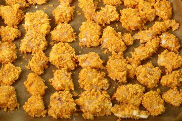 Ricetta Nuggets Di Pollo Ai Corn Flakes Al Forno 6