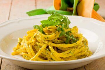 Ricetta Pasta Allo Zafferano E Pesto