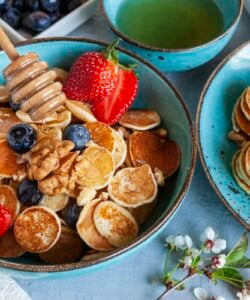 Ricetta Mini Pancakes Proteici