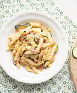Ricetta Pasta Cremosa Zucchine E Pancetta