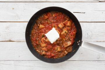 Ricetta Linguine Cremose Funghi E Pomodoro Preparazione 5