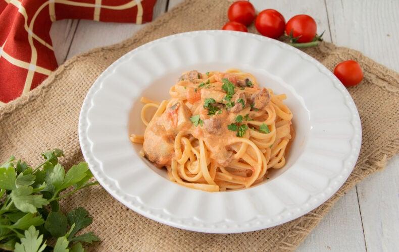 Ricetta Pasta Cremosa Funghi E Pomodoro 2